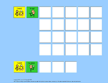 Communication Board: Mealtime Sentences Bundle [speech therapy and autism]