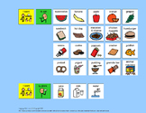 Communication Board: Mealtime Sentences [speech therapy an