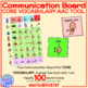 Communication Board PLUS Word Cards for Core Vocabulary AAC