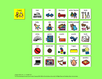 Communication Board: Play [speech therapy and autism]