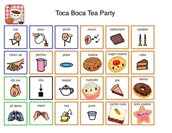 Communication Board for Toca Boca Tea Party on iPad