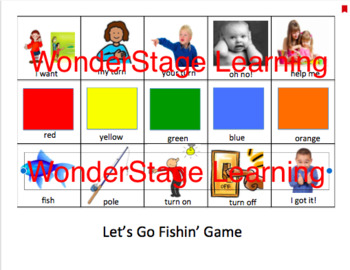 Communication Board (for use with the Let's Go Fishin' Game)