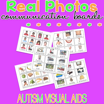 Communication Boards - Real Photo Visual Aids for Autism