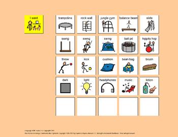 Communication Boards: Sensory Gym Bundle [speech therapy a