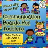 Communication Boards for Toddlers & Preschool- Food, Emoti