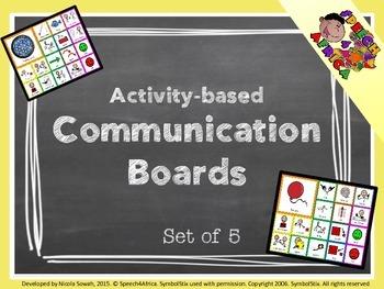 Communication Boards set 1 (activity-based using symbolstix)