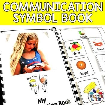 Communication Symbol Book - Autism, Spec Ed