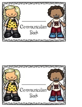 Communication Book and Mail Labels (editable options included)