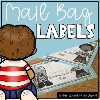 Communication Book & Mail Labels {editable options included}