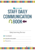 Communication Book Printables for Daycare, Childcare, Lead