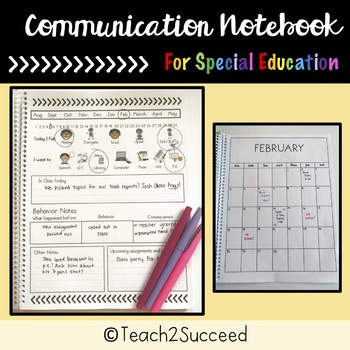 Communication Book for Special Education