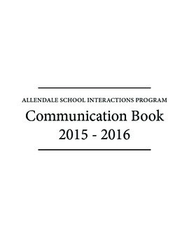 Communication Booklet/Agenda for Students with Autism