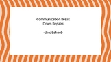 Communication Breakdown Strategies