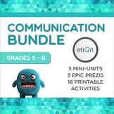 Communication Middle School Bundle | Prezis & Printable Activities