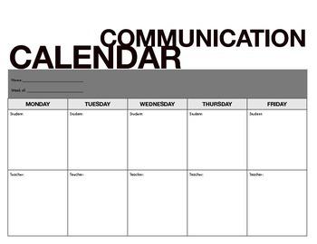 Communication Calendar