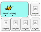 Editable Communication Card - Good Morning