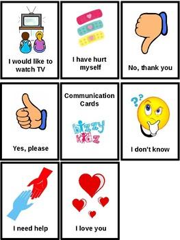 Communication Cards. Autism, Non-Verbal, PECS