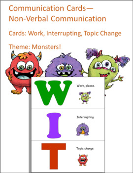 Communication Cards- WIT- NonVerbal Visual Aid