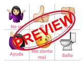 Communication Cards for Selective Mutism in Spanish (Girl Emoji)