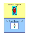 Communication Cards for Special Needs Children.