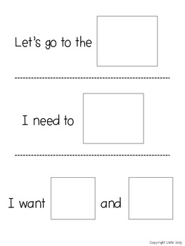 Communication Cards for Students with Autism - Set 2