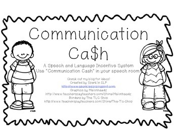 Communication Cash {Freebie}
