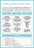 Communication Cheat Sheet - Polite English