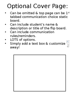 Communication Choices Flip Book Template FREEBIE