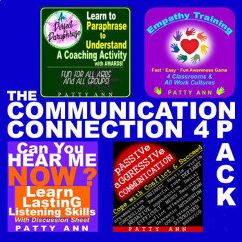 Oral Communication 4-Pack BUNDLE *Guidance *Activities *Engaging Training Games!