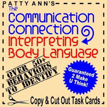 Oral Communication Activity Skills: Interpreting Body Language Using Task Cards