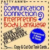 Oral Communication Language Activities: Interpreting Body Language w/Task Cards