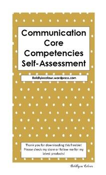 Communication Core Competencies Self-Assessment