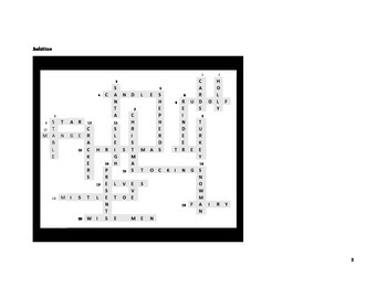 Communication Crossword- Christmas spealikn activity