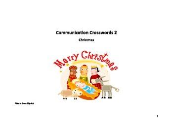 Communication Crossword- Christmas speaking activity