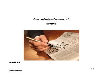Communication Crossword Simple Economics terms - speaking exercise