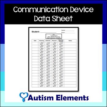 Communication Device Data Sheet