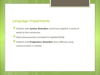 Communication Disorders Power Point