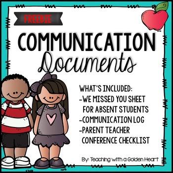 Communication Documents FREEBIE