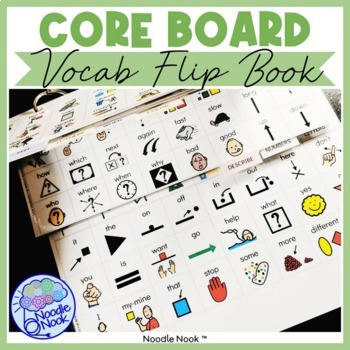 Core Vocabulary Flip Book- Leveled AAC for Emergent Users