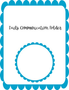 Communication Folder Cover Page