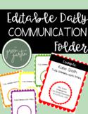 Communication Folder Cover Page