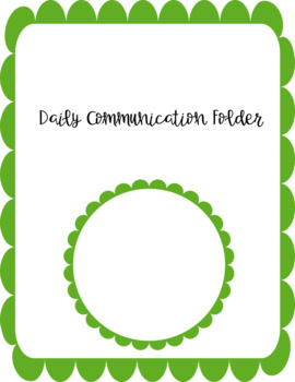 Communication Folder Cover Page Product FREEBIE
