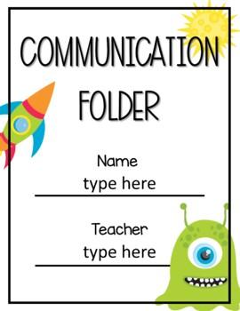 Communication Folder Cover Space Editable