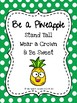 Communication Folder Covers and Pocket Covers (Pineapple Theme)