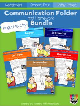 Communication Folder & Homework Bundle Packet