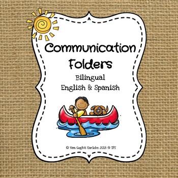 Communication Folders (Camp Theme) in English & Spanish
