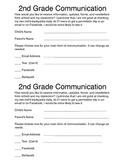 Communication Form (parents choose what form of communicat