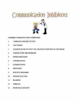 Communication Inhibitors Lesson
