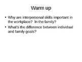 Communication & Interpersonal Skill, and Life Plans Notes