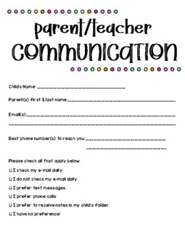 Communication Letter